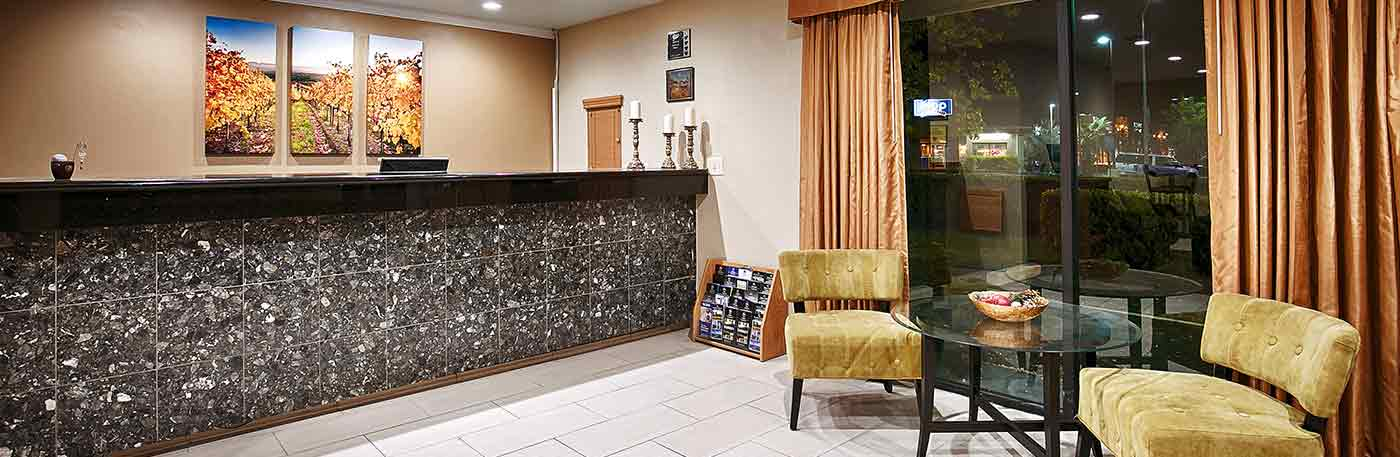 front desk hotel in vacaville ca